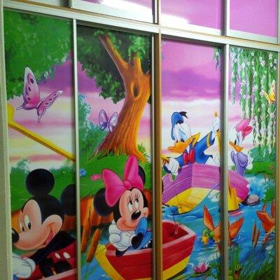 Шкаф купе с детским рисунком